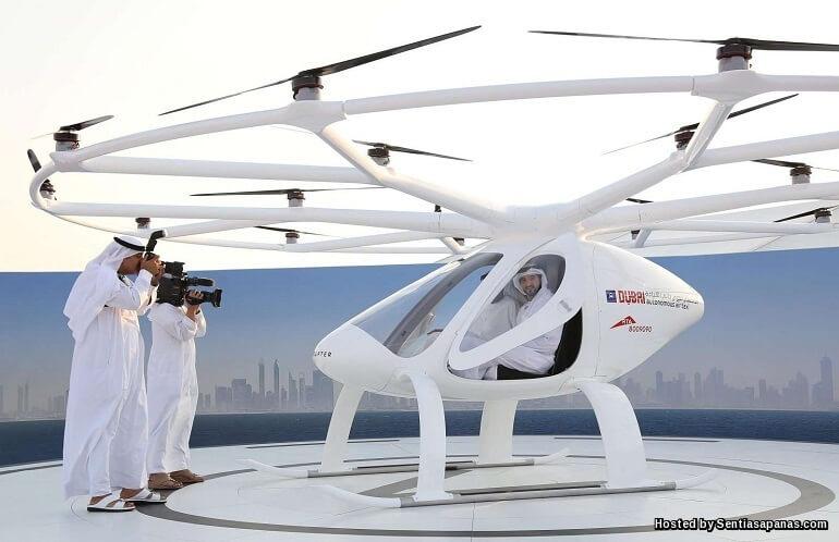 Dubai Bakal Perkenal Perkhidmatan Dron Sebagai Teksi Terbang!