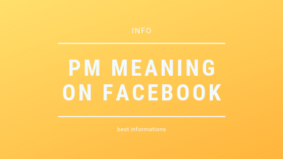 Pm Meaning On Facebook<br/>