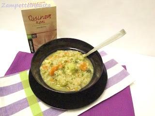 Zuppa di verdure con quinoa - Ricette con la quinoa