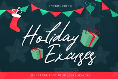 Freebie Fonts Holiday Excuses