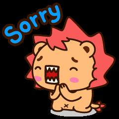 Sticker Lucu Dengan Kata Kata Sorry sorry sorry