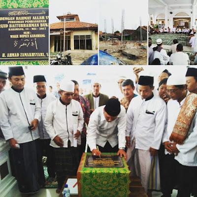 Kang Jimmy Meresmikan Pembangunan Masjid di Warung Bambu