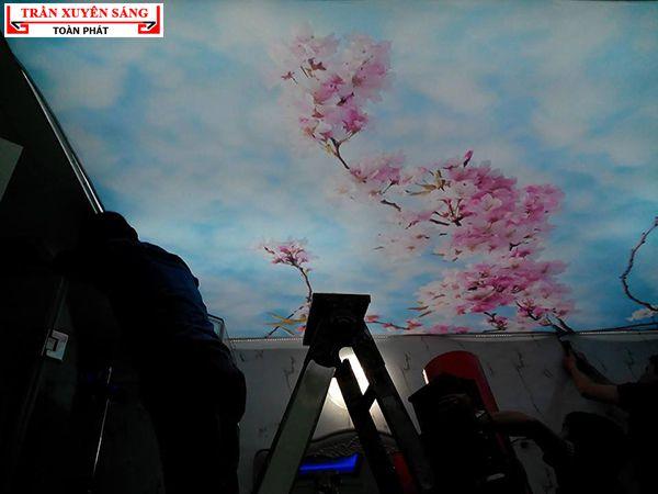 trần xuyên sáng biệt thự cao cấp của nhà chị Hoa - Royal City