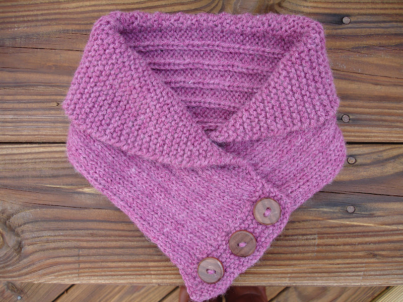 field wonderful: shawl collared cowl