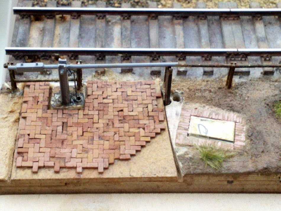 die merziener privatbahn ag - bb: pflaster in 1 : 87 mit nf ziegel, Gartenarbeit ideen