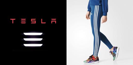 Adidas y su descontento por el nuevo Logo del Tesla Model 3