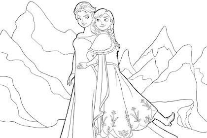 Contoh Gambar Frozen Untuk Mewarnai