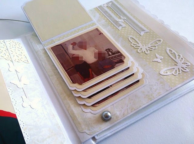 Mini album de scrapbooking tematica familiar