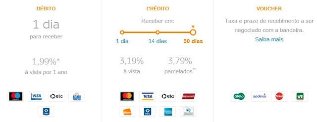 Banner sobre a Taxa de 0% no débito e crédito à vista na sua maquininha de cartão de crédito