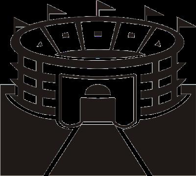 Icon Denah Menunjukkan Gedung Olahraga