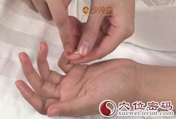 少衝穴位 | 少衝穴痛位置 - 穴道按摩經絡圖解 | Source:xueweitu.iiyun.com