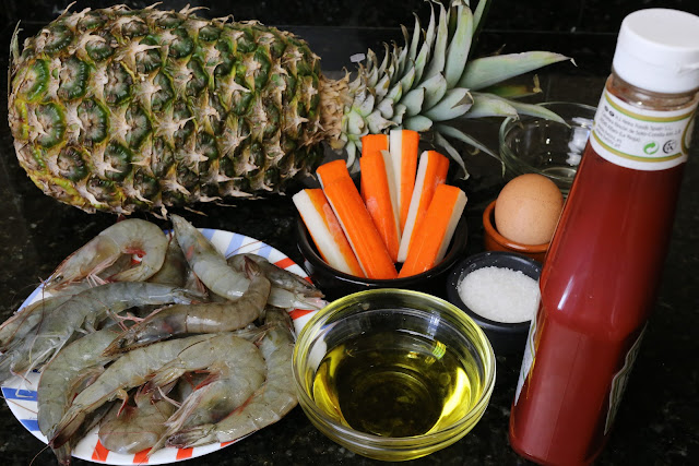 Ingredientes para cóctel tropical