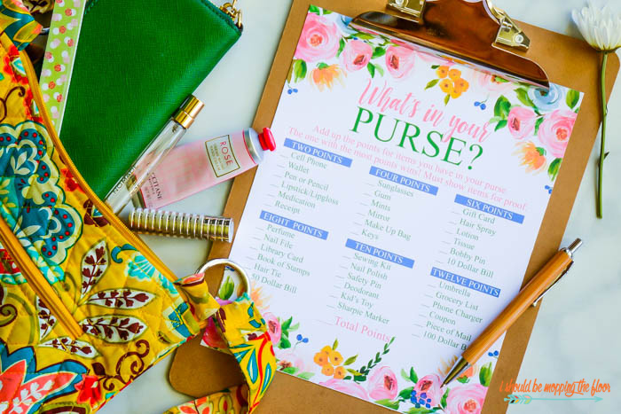 What's In Your Purse Printable
