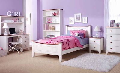 Simple and Nice Purple Bedroom for Girl