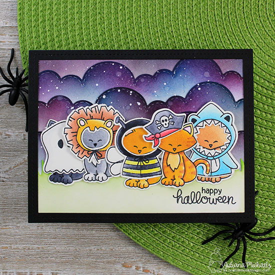 Halloween Cat in Costumes Card by Juliana Michaels | Newton's Costume Party Stamp Set and Die Set by Newton's Nook Designs #newtonsnook #handmade