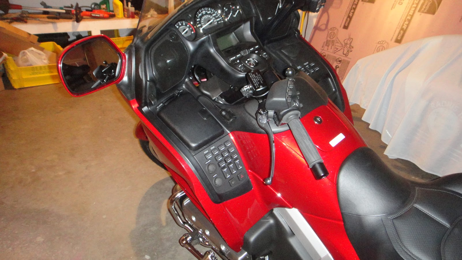 hight resolution of the first order of business for the bike was to figure out where to connect up power to the gps in the photo above you can see a panel with a lot