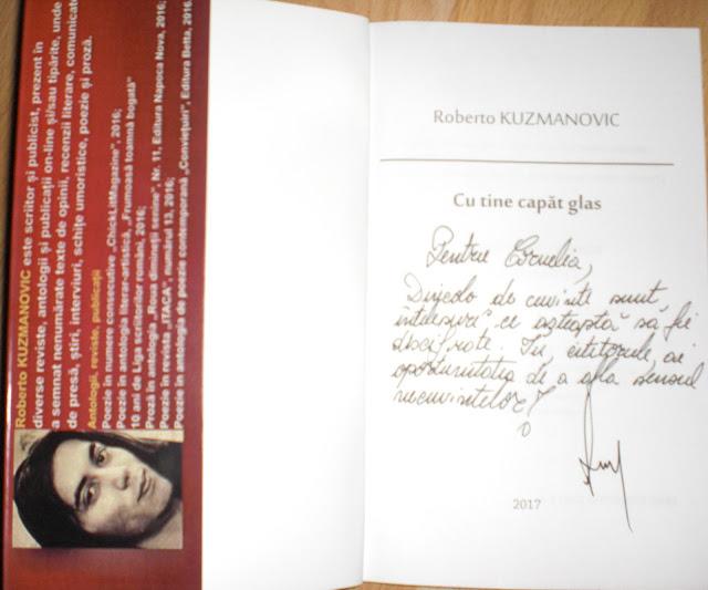 Roberto Kuzmanovic - Cu tine capăt glas - volum poeme