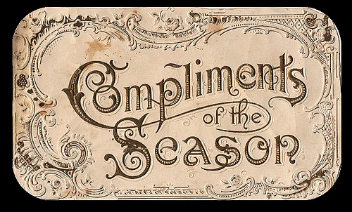 What does compliments of the season mean - answers.com
