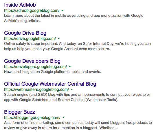 Google's Blogs Move to a Custom Domain