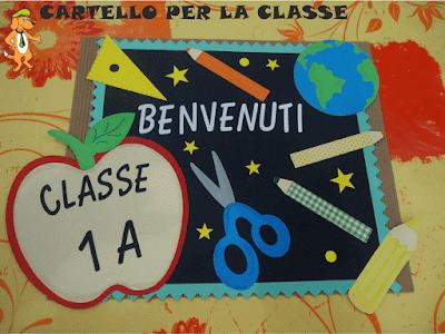 A scuola con poldo cartello benvenuti per l 39 aula for Cartelli per la porta dell aula da stampare