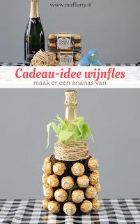 Ananaswijnfles - cadeau-idee