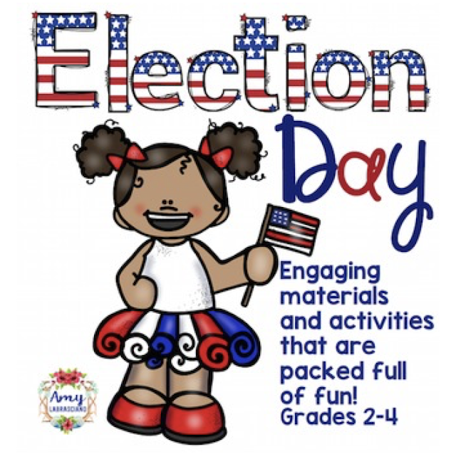 Click here to find fun activities to incorporate into your classroom for Election Day, Flag Day, Independence Day, President's Day or any patriotic day.  These fun ideas work for any primary or intermediate elementary classroom.  Your kindergarten, first, second, third, fourth or fifth grade students will love the activities shared here.  {kindergarten, first, second, third, fourth, fifth grade, homeschool}
