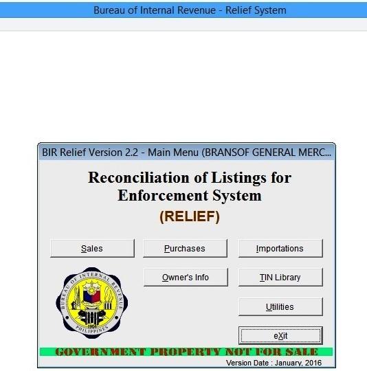 Bir relief system free download
