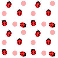 ladybug polka pattern