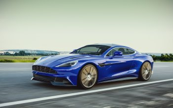 Wallpaper: Car. Blue. Aston Martin Vanquish