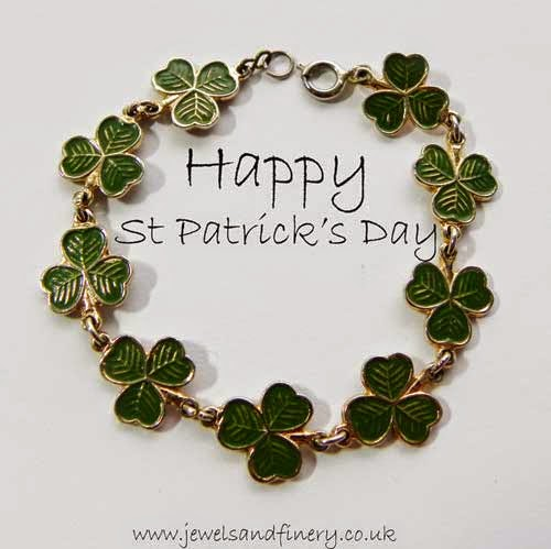 St Patrick's day green shamrock bracelet