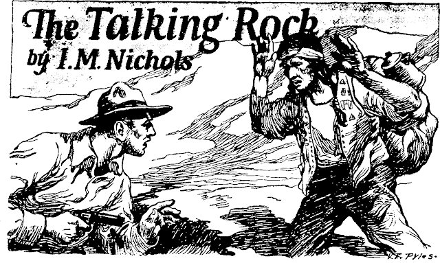 Illustration by Virgil E. Pyles for The Talking Rock