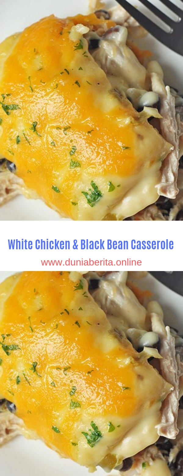 White Chicken & Black Bean Casserole