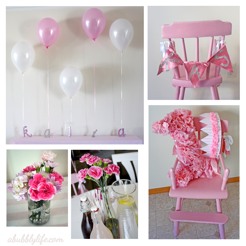 A Bubbly LifePink Girly Budget DIY First Birthday!