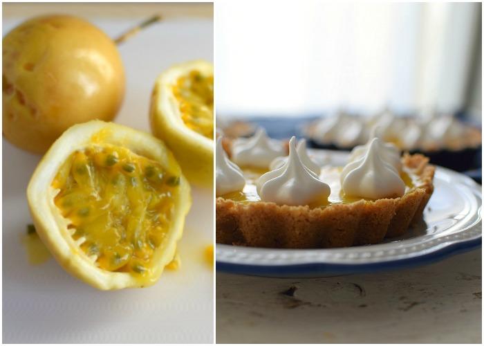 La pulpa de la parchita se extrae para hacer el relleno de estas tartas con sabor concentrado de la fruta