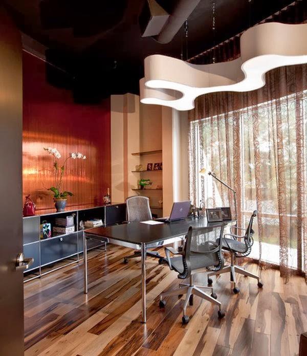 Oficina moderna en casa colores en casa for Oficinas modernas en casa