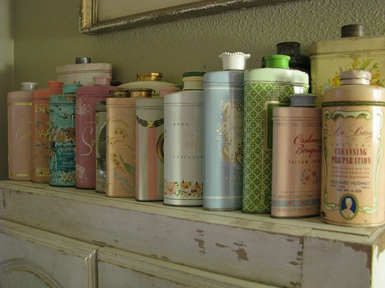 Vintage Talcum Powder Tins