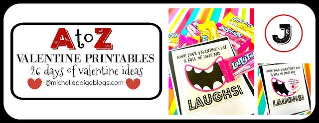 A to Z Valentine Printables @michellepaigeblogs.com