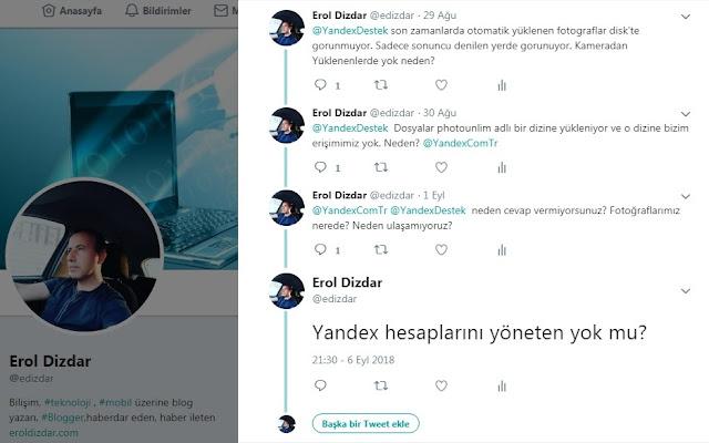 Yandex Disk Sınırsız Fotoğraf Depolamayı Kullanmayın