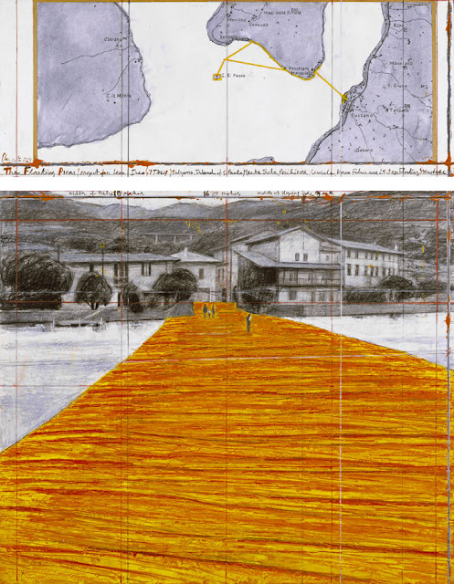 """""""The Floating Piers"""" sul lago di Iseo"""
