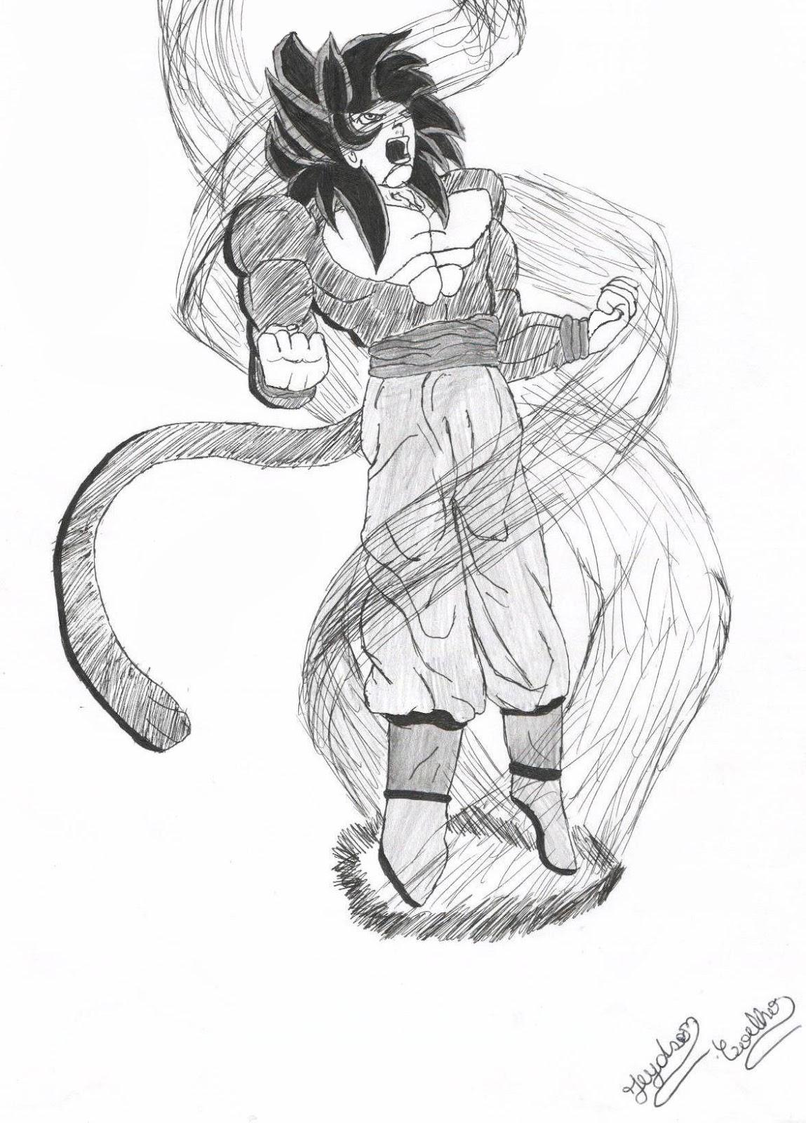 Desenhos Mangas Do Jeydson Goku Super Sayajin 4