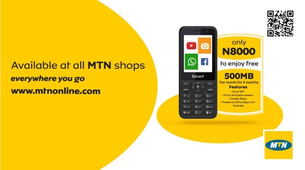 MTN Now Offers Free 500mb Every Month When you Buy their Phone