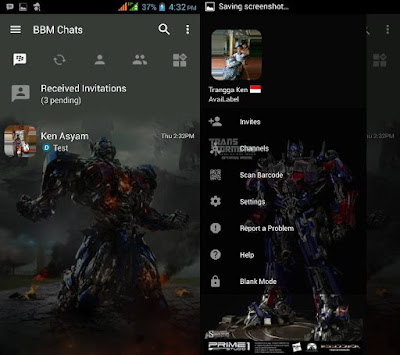 BBM MOD Optimus Prime (Transformers) v3.2.5.12 Full No Crop DP Update Apk