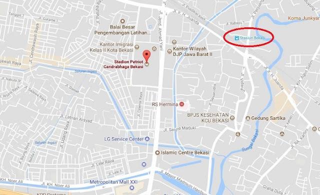 Cara Naik KRL Commuter Line ke Stadion Patriot Candrabaga Bekasi