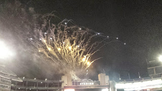 fireworks at Gillette Stadium for a NE Revolution game