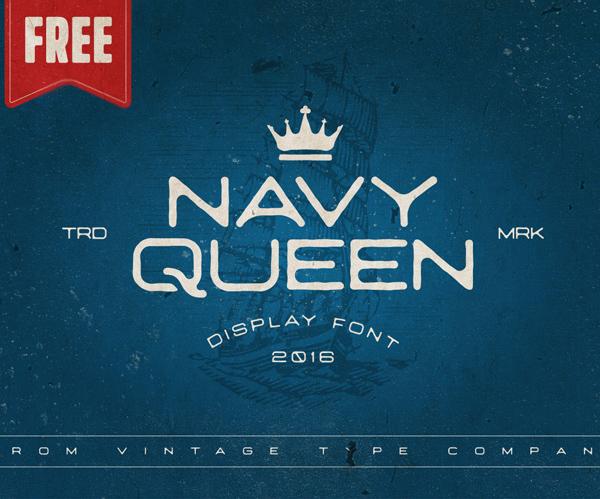Navy Queen Free Font