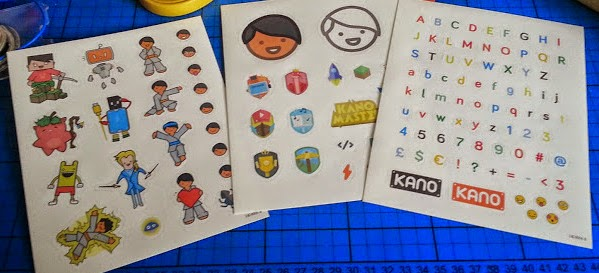 The Kano Computer Kit review - case personalisation stickers
