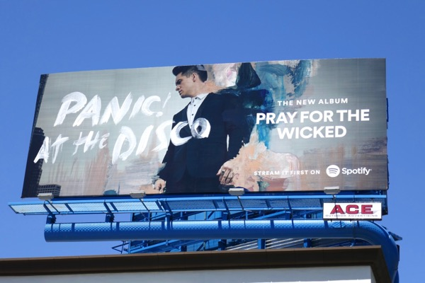 Panic at Disco Pray for Wicked Spotify billboard