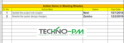 Action Items in Minutes