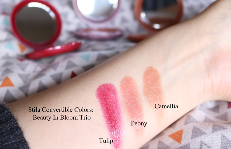Stila Beauty In Bloom Convertible Color Trio review swatches
