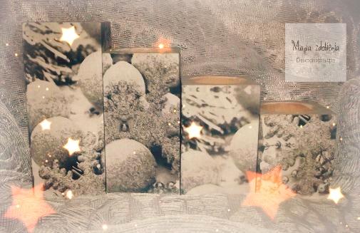 71. Świeczniki Decoupage